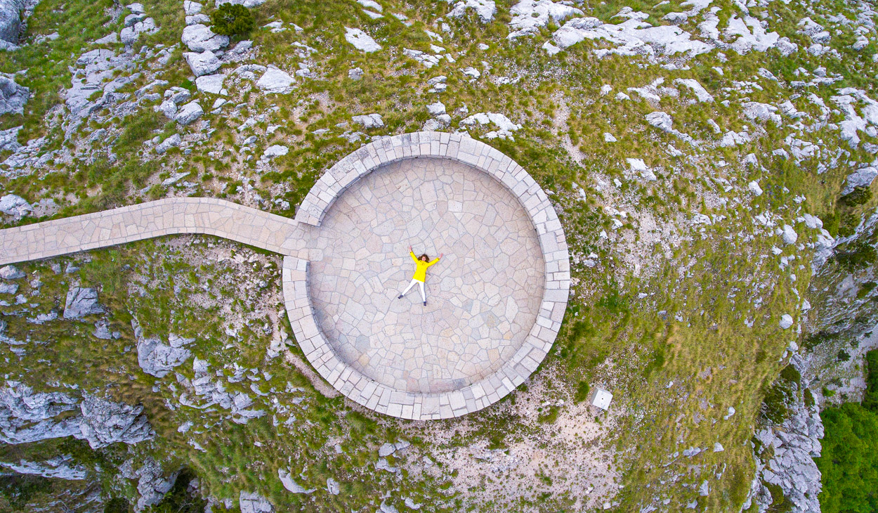 Mount Lovcen, Montenegro - aerial photography