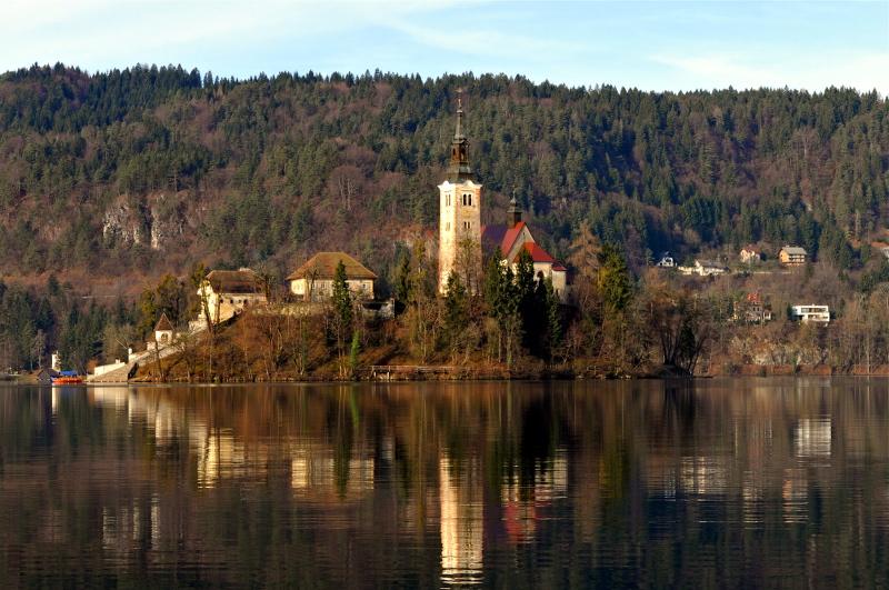 beld island, church, bled lake