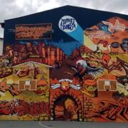 Massive graffiti collage
