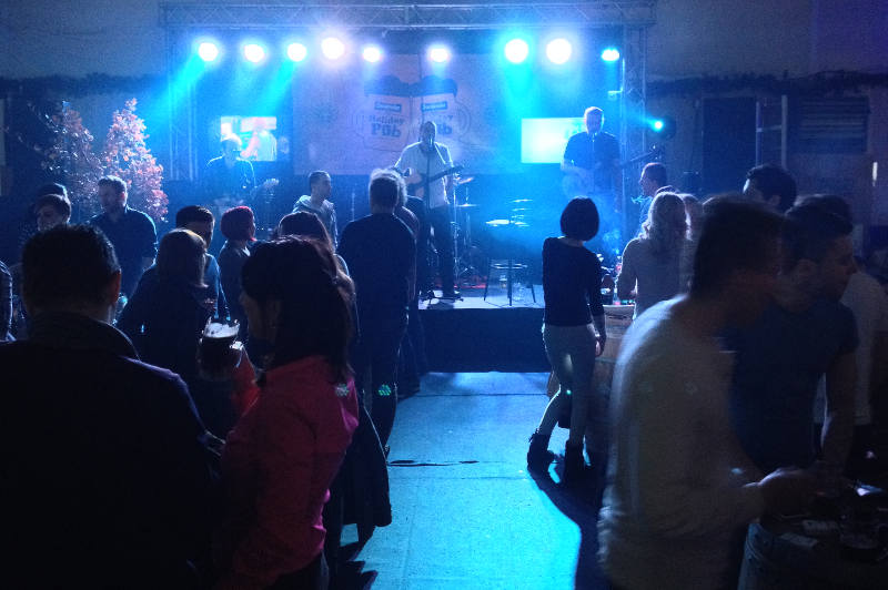 Free nightly concerts are held in the Holiday Village in Sarajevo.