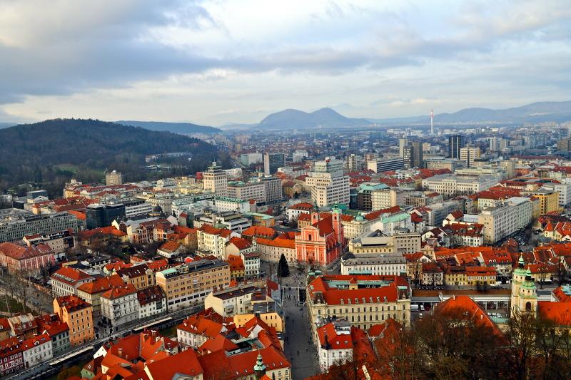 slovenia, Ljubljana, castle view