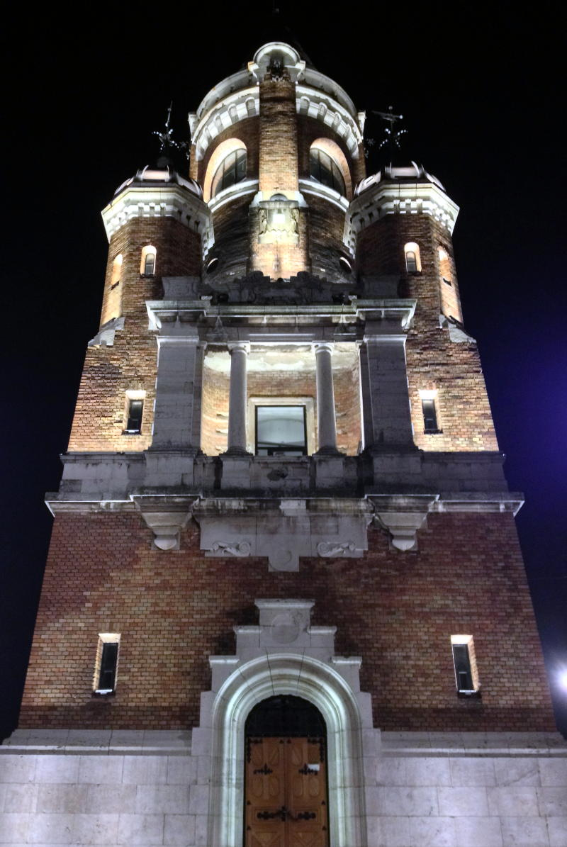 In Zemun, the Gardos Tower at night