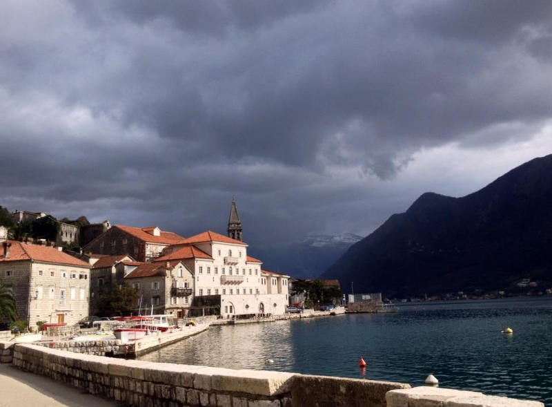View of Perast from the epic bike tour
