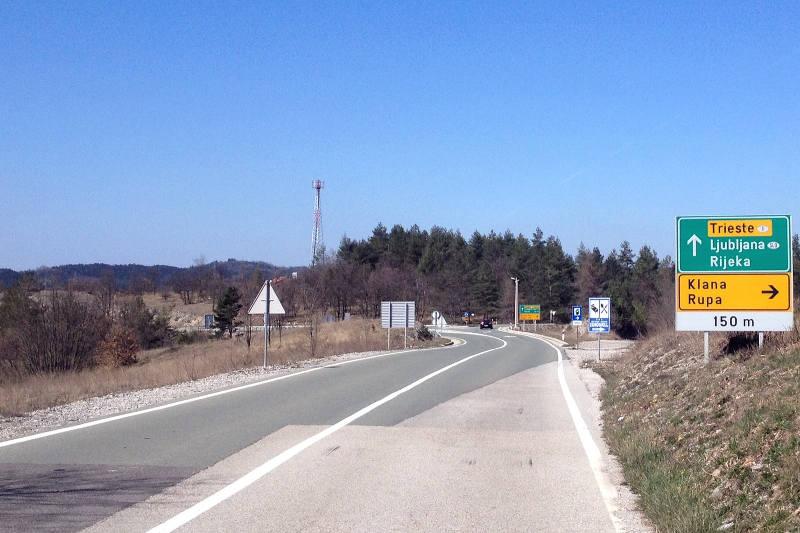 Biking through Croatia, near Rijeka