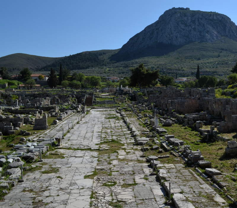 A Roman Road that cut through Ancient Corinth