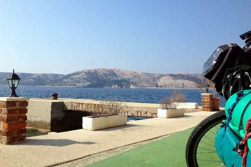 Bicycle touring on the island of Pag, Croatia