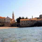 Budva Old Town from the water. Montenegro - meanderbug