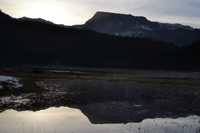 Durmitor mirror image at dusk