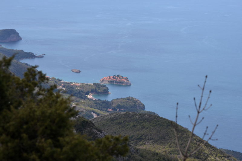 View of St. Stefan Island from the fortress