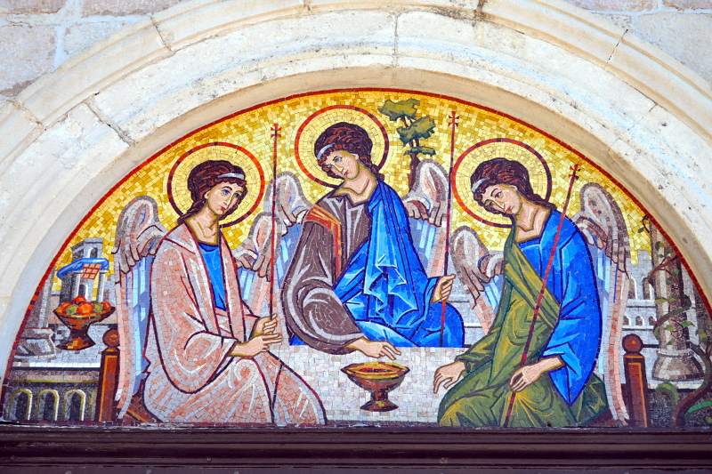 mosaic, church, budva, montenegro - meanderbug