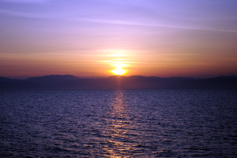 aegina, sunset, greece - meanderbug