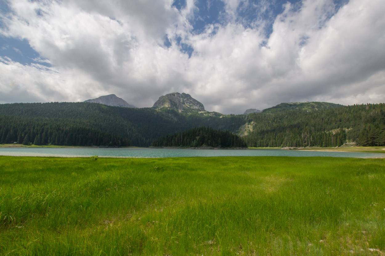 Black Lake in Durmitor National Park in Montenegro in early summer
