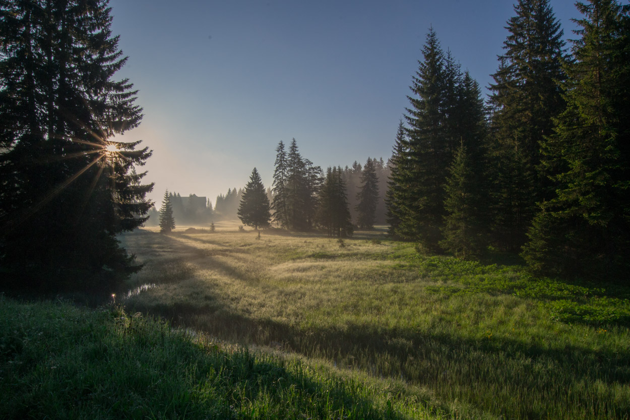 Near entry of Durmitor National Park in early Spring morning