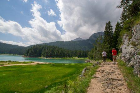 Hiking Black Lake in Durmitor National Park in Montenegro