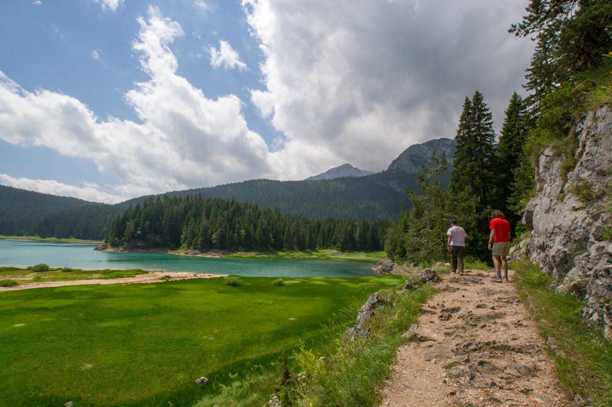 Hiking Black Lake in Durmitor National Park in Montenegro