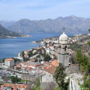 Looking down on old town Kotor - meanderbug