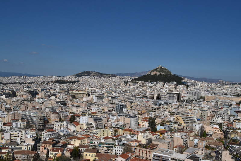 View of Athens from Acropolis - meanderbug