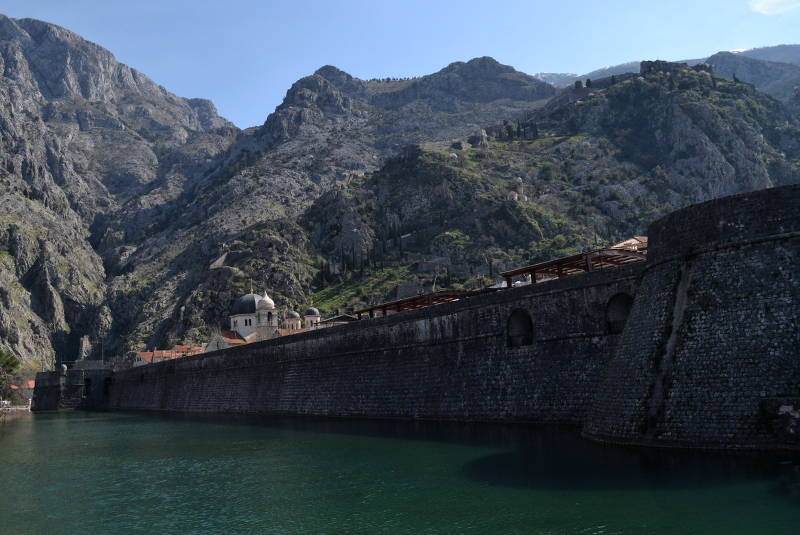 North wall of old town Kotor - meanderbug