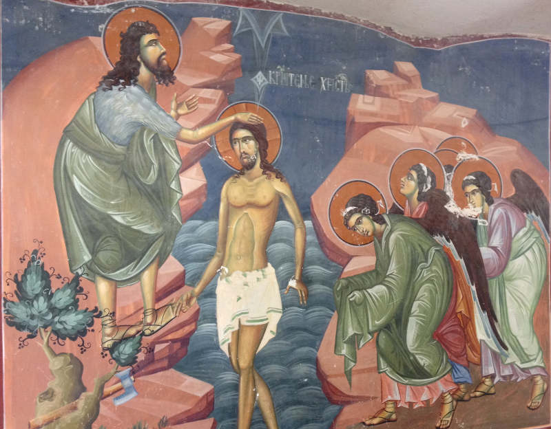 Mural at Ostrog Monastery - meanderbug