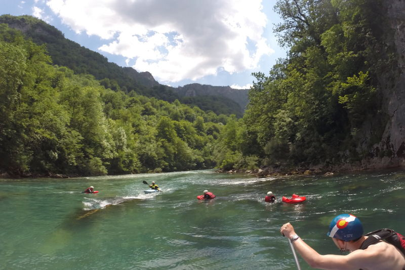 Rafting Tara River Canyon in Montenegro - meanderbug
