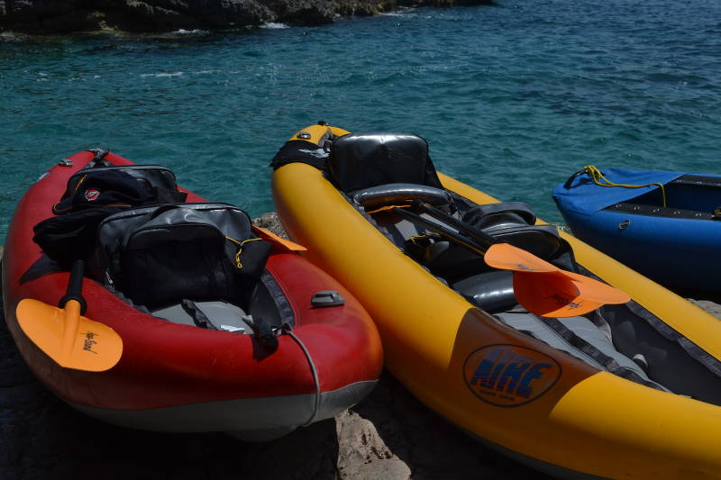 Kayaking to the Blue Cave in Montenegro - meanderbug