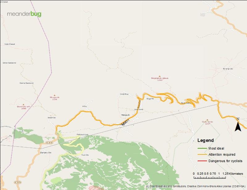 Cetinje - Lovcen touring map (2 of 2)