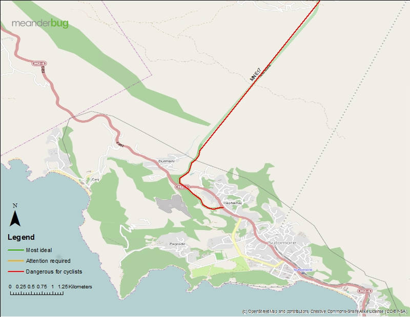 Sutomore bypass track map 2 of 2