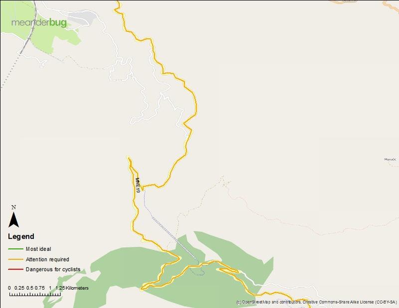 Bar to Virpazar bike touring map (2 of 3)