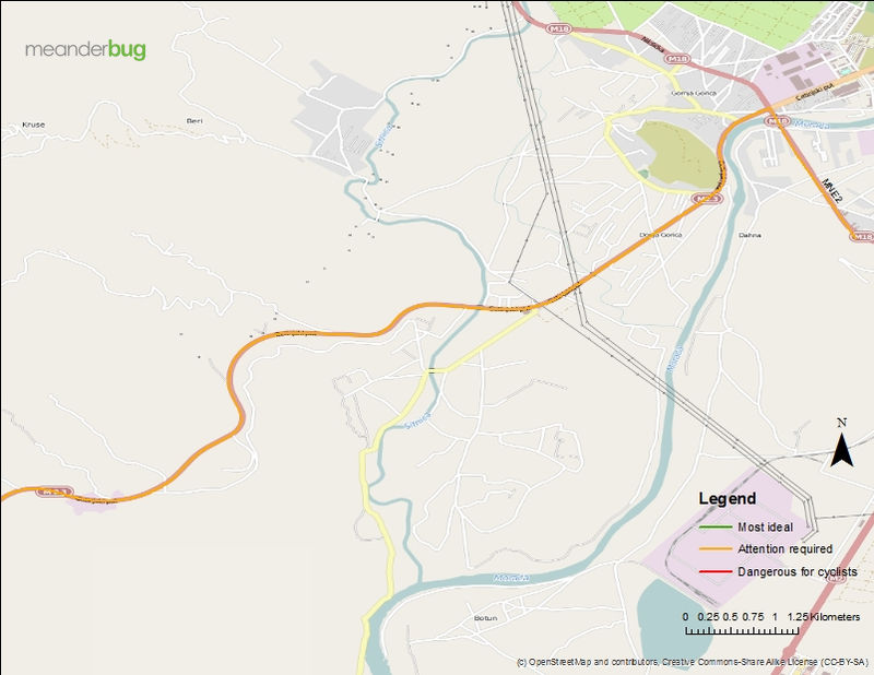 Cetinje - Podgorica cycle touring map (4 of 4)