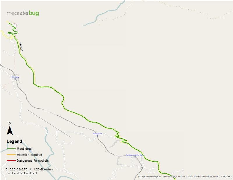 Danilovgrad - Ostrog bike touring map (2 of 2)