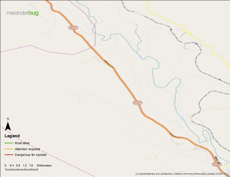 Niksic hwy to Podgorica bicycle touring map (2 of 4)