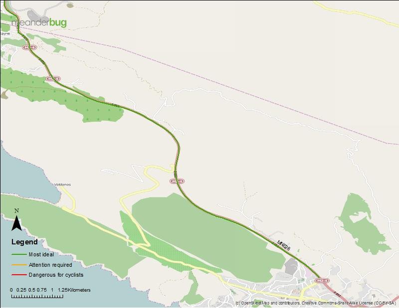 Bar - Ulcinj, Montenegro cycling map (3 of 3)