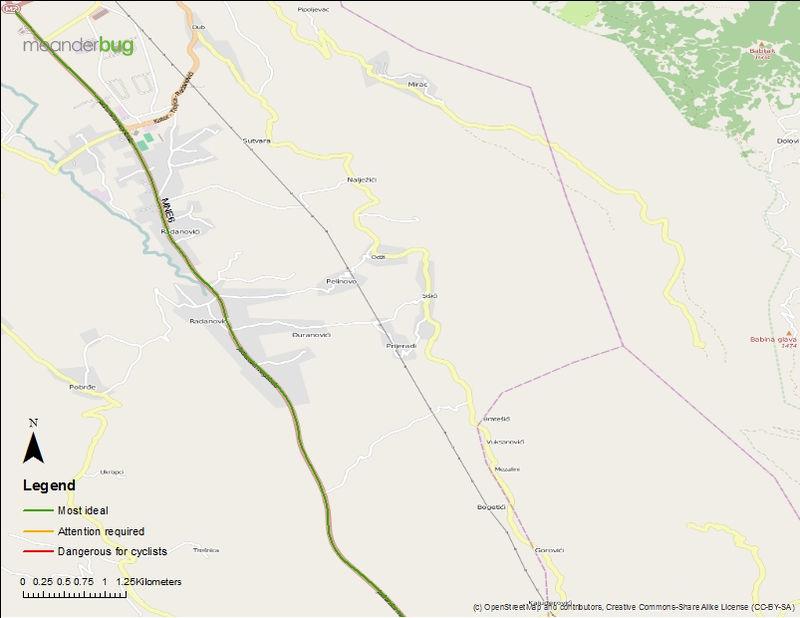 Budva - Tivat bicycle touring maps (2 of 2)