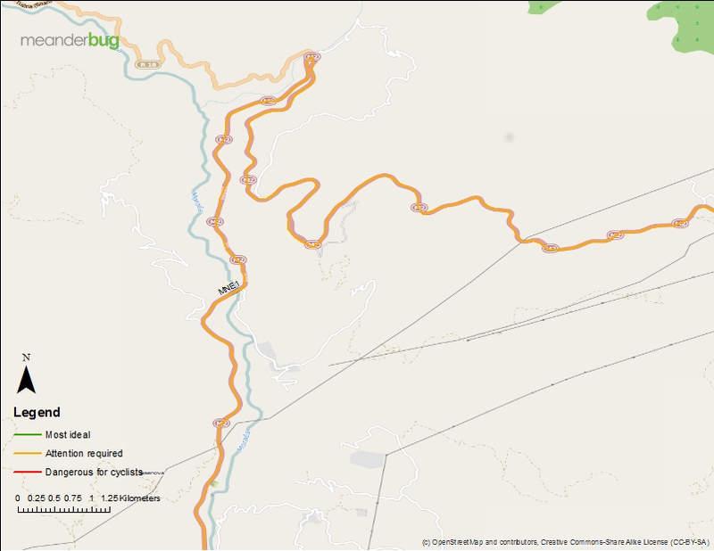 Kolasin - Podgorica bike touring map 2 of 8