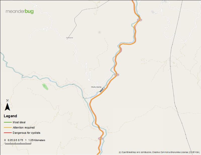 Kolasin - Podgorica bike touring map 3 of 8
