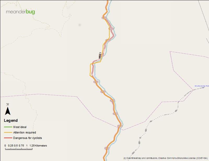 Kolasin - Podgorica bike touring map 4 of 8
