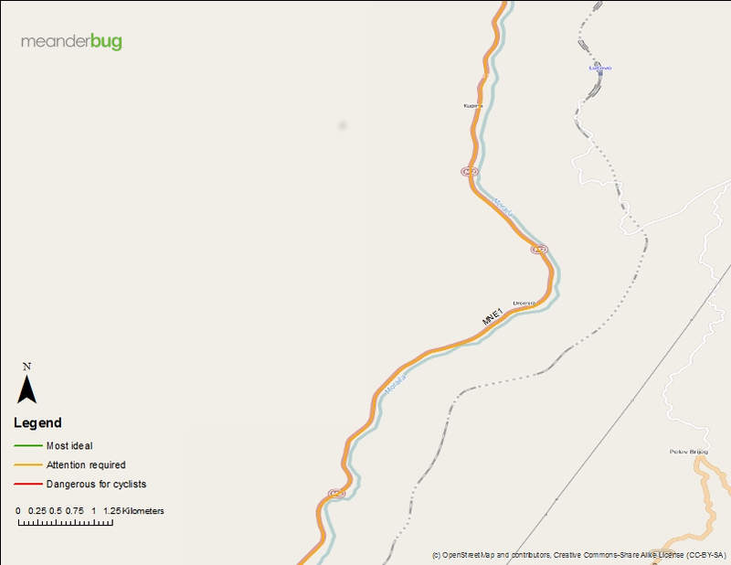 Kolasin - Podgorica bike touring map 5 of 8