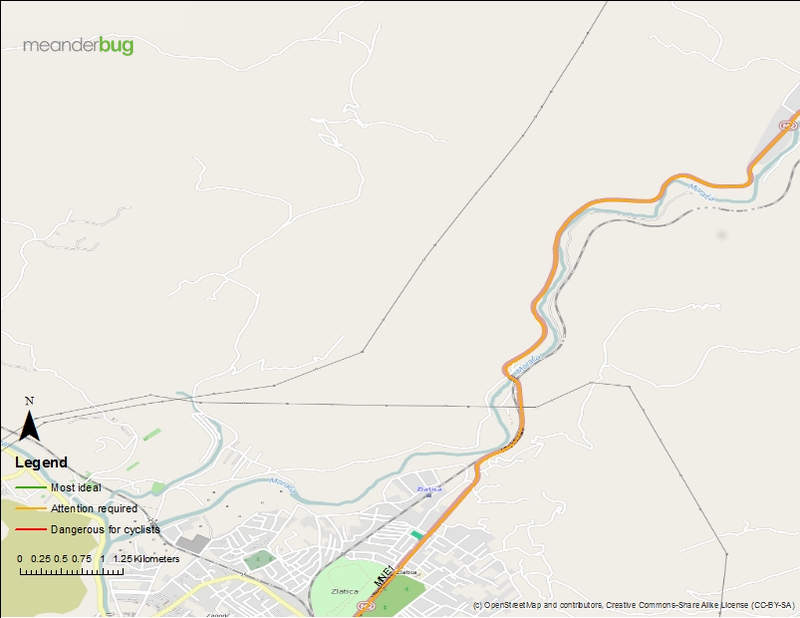 Kolasin - Podgorica bike touring map 7 of 8
