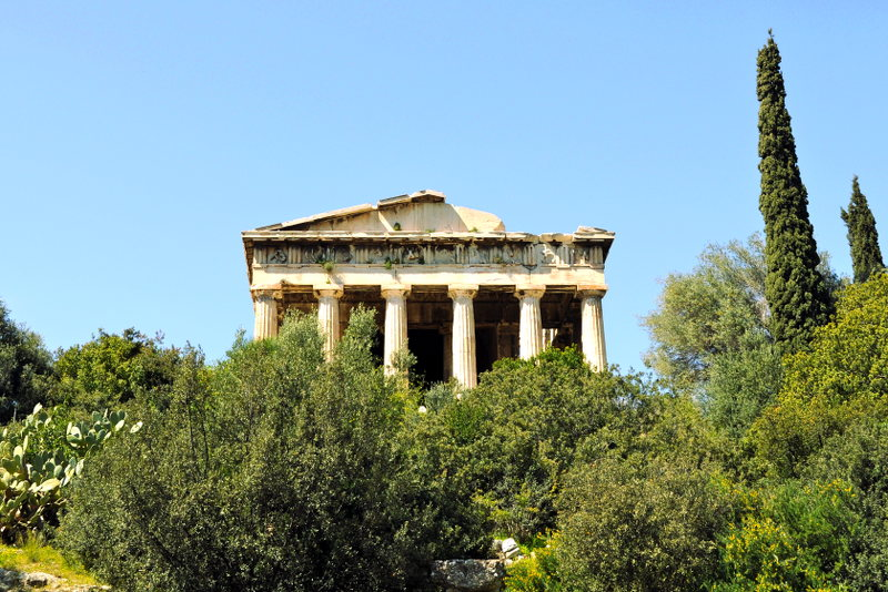 temple of Hephaestus - Athens - Meanderbug