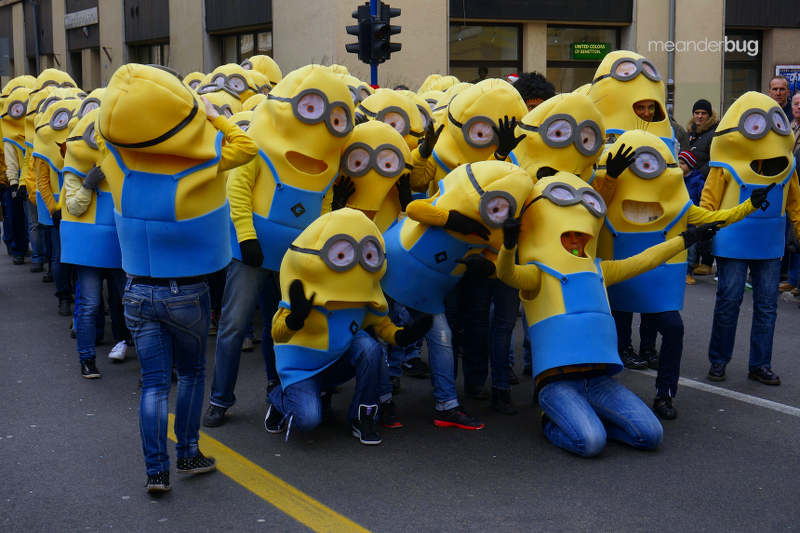 Minions on parade at Carnival festival in Rijeka, Croatia - meanderbug