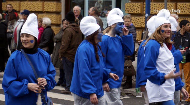Smurfs at the Carnival in Rijeka, Croatia - meanderbug