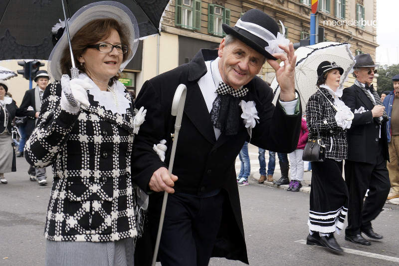 Traditional Austro-Hungarian dress at Carnival Parade in Rijeka, Croatia - meanderbug