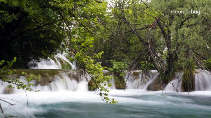More waterfalls at Plitvice - meanderbug