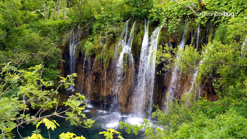 Plitvice waterfalls - meanderbug