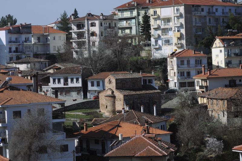 byzantine church, kastoria, greece, meanderbug