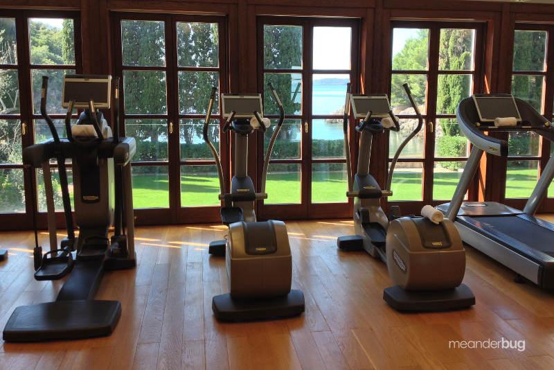Exercise room at Villa Miločer - meanderbug