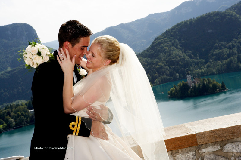 wedding from Bled Castle