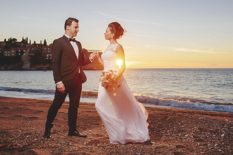 Destination weddings on the beach in Montenegro - photo by Alexander Jaredic