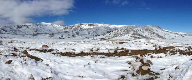 Snowy landscape in Mavrovo National Park