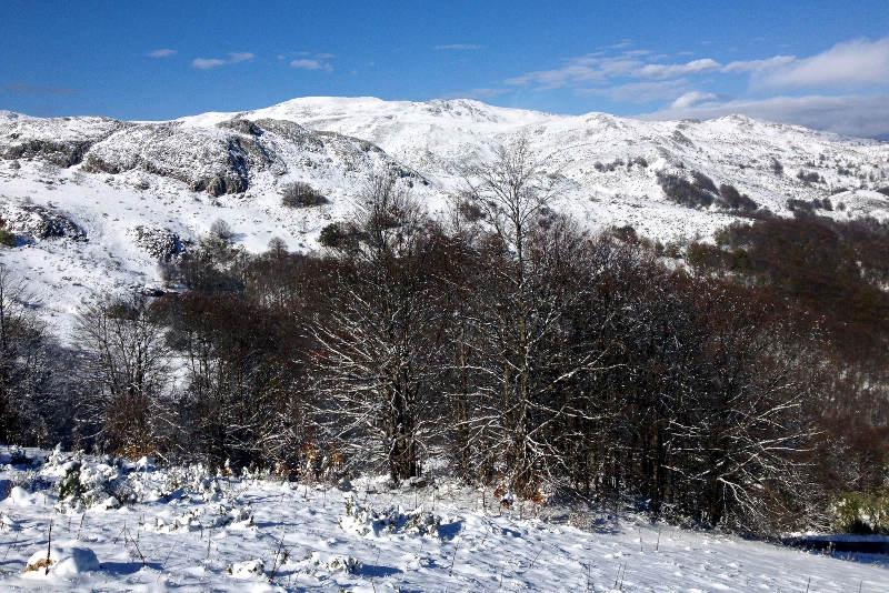 Snow in Mavrovo, Republic of Macedonia